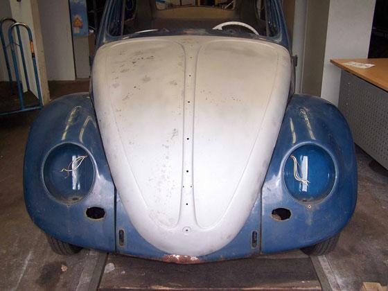 Restaurierung eines alten VW Käfers
